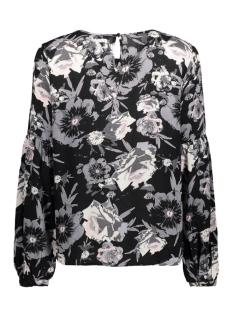 viastha l/s top 14044806 vila blouse black/black comb