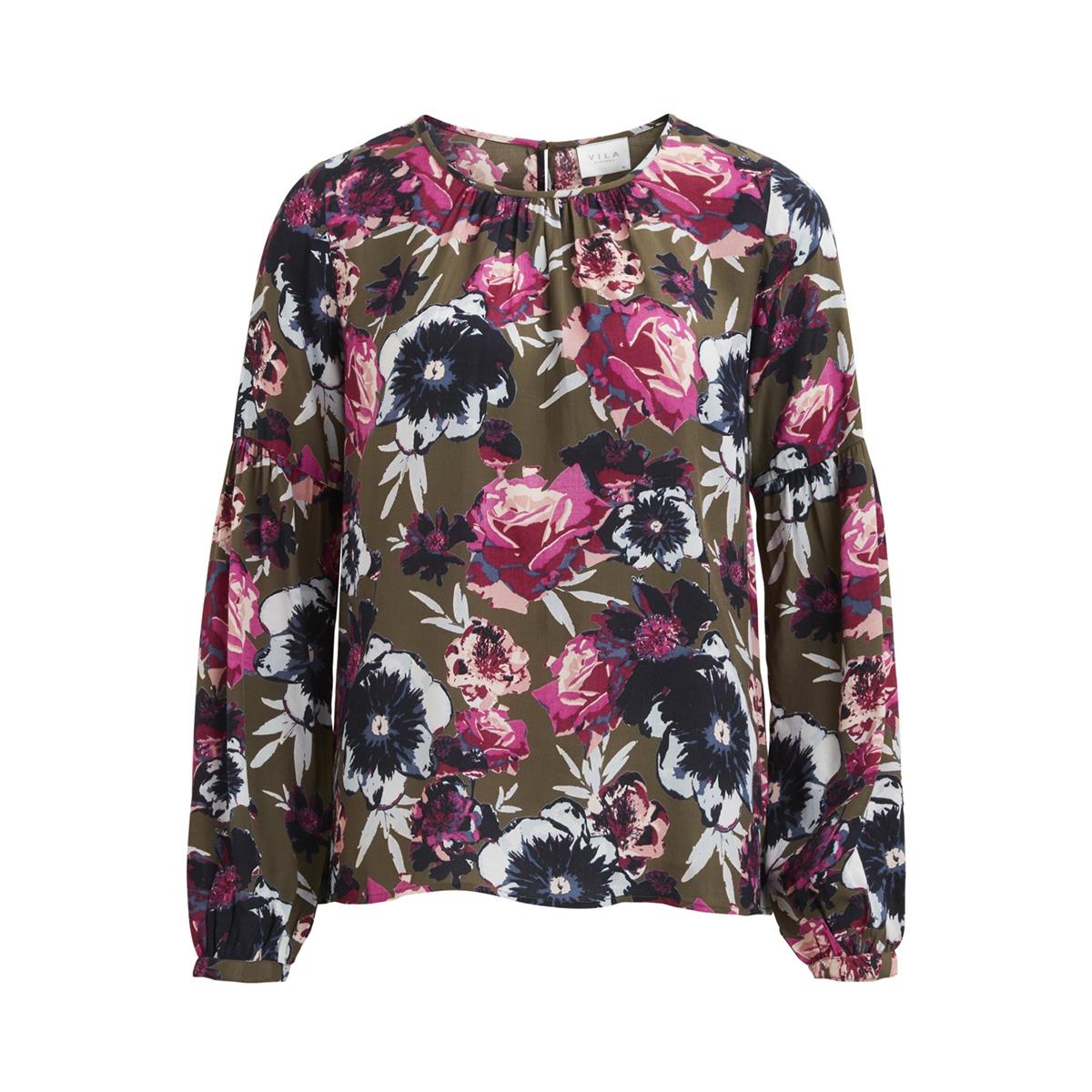 viastha l/s top 14044806 vila blouse ivy green/ivy green