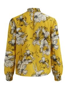 vifloppy l/s  top 14048011 vila t-shirt nugget gold/flower pri