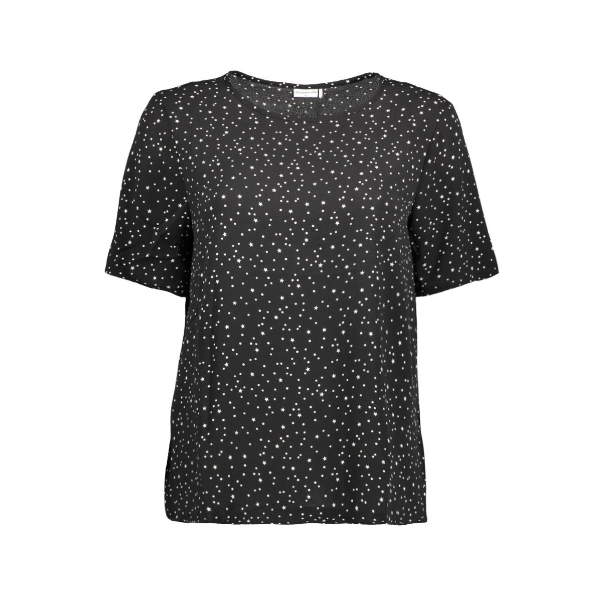 jdyrun s/s top wvn 15143225 jacqueline de yong t-shirt black/run stars