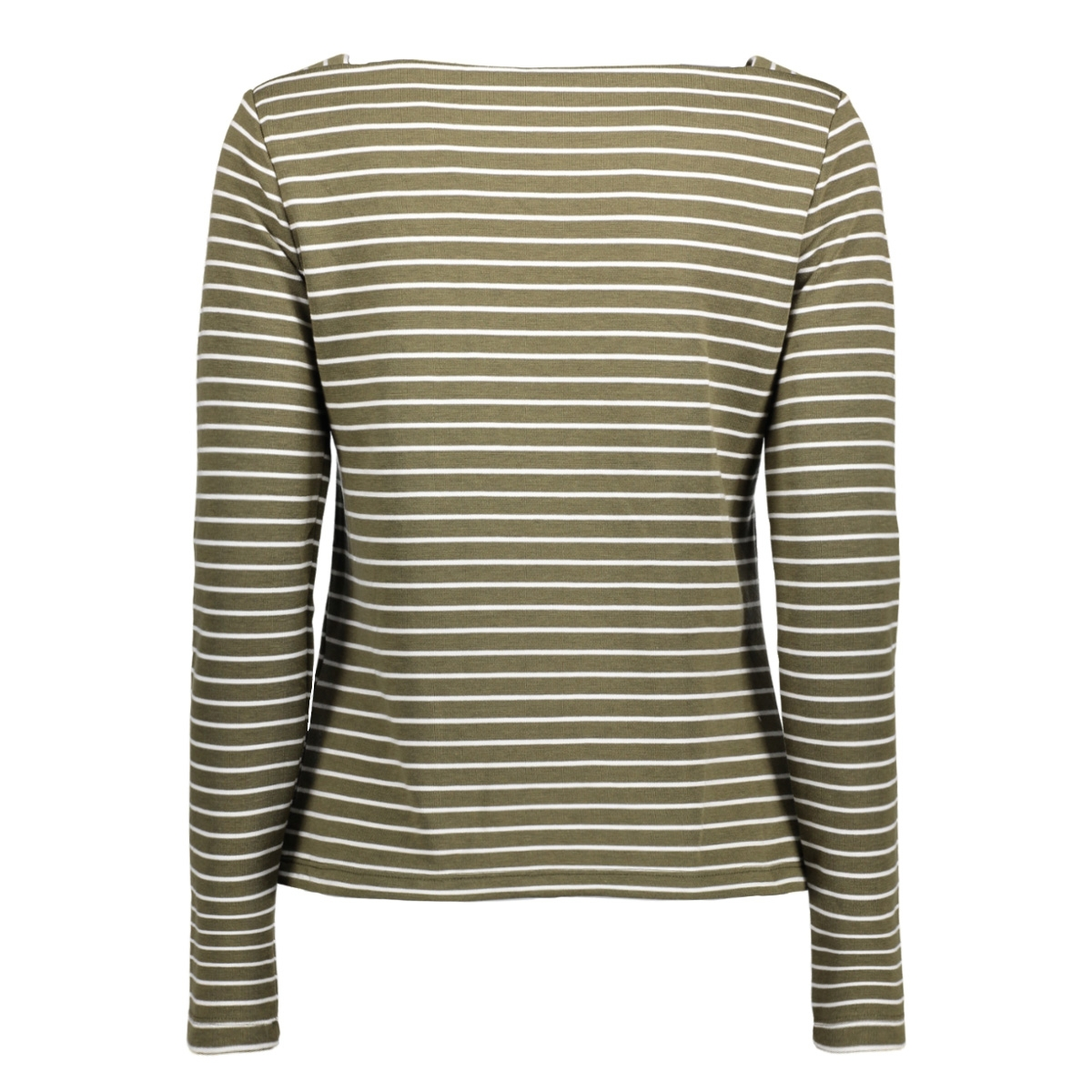visonja l/s t-shirt/pb 14044392 vila t-shirt ivy green / cloud dancer