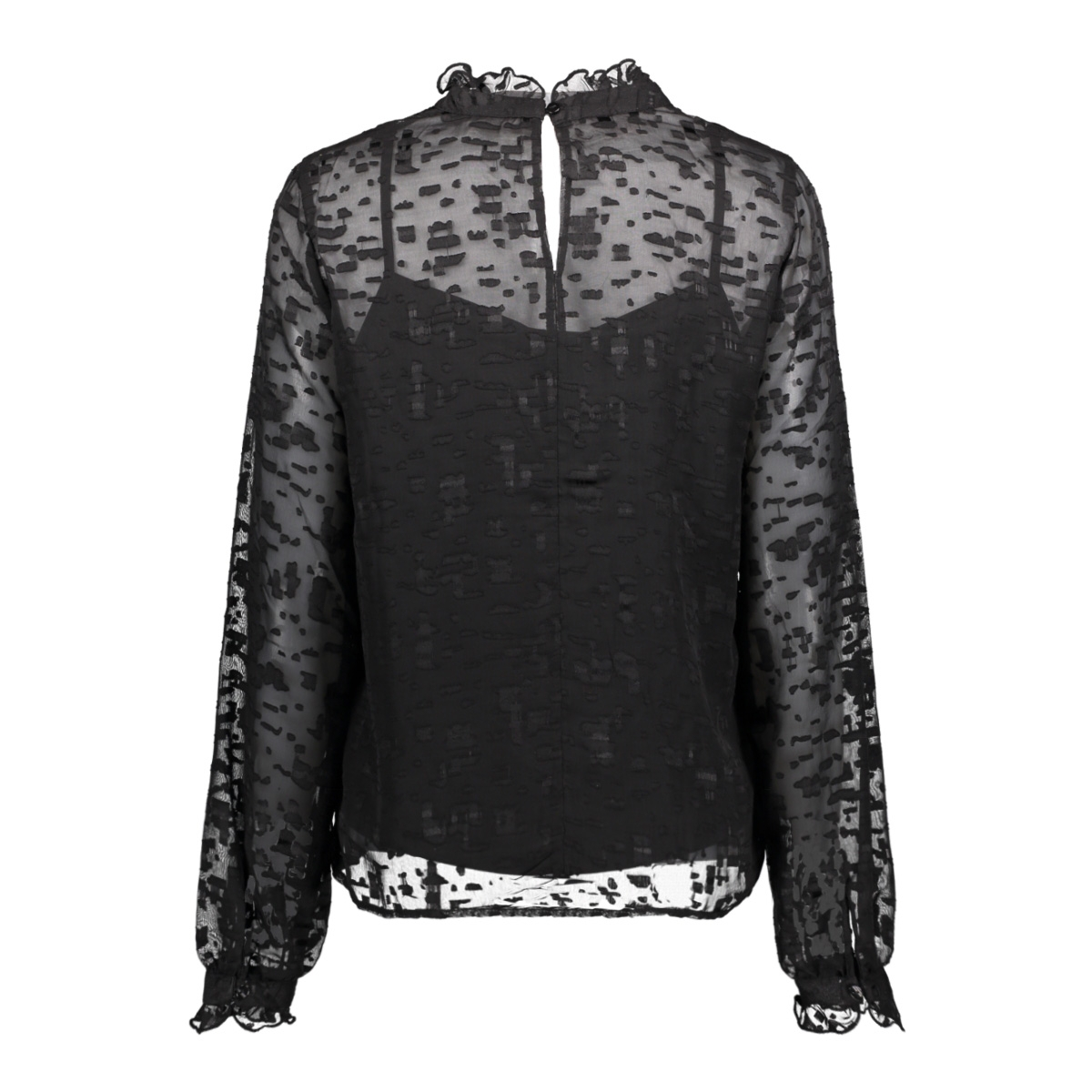 vienya l/s top 14044758 vila t-shirt black
