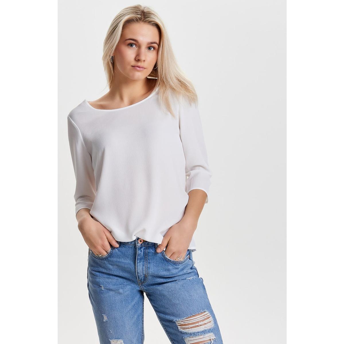 onlvic 3/4 solid top noos wvn 15150195 only t-shirt cloud dancer