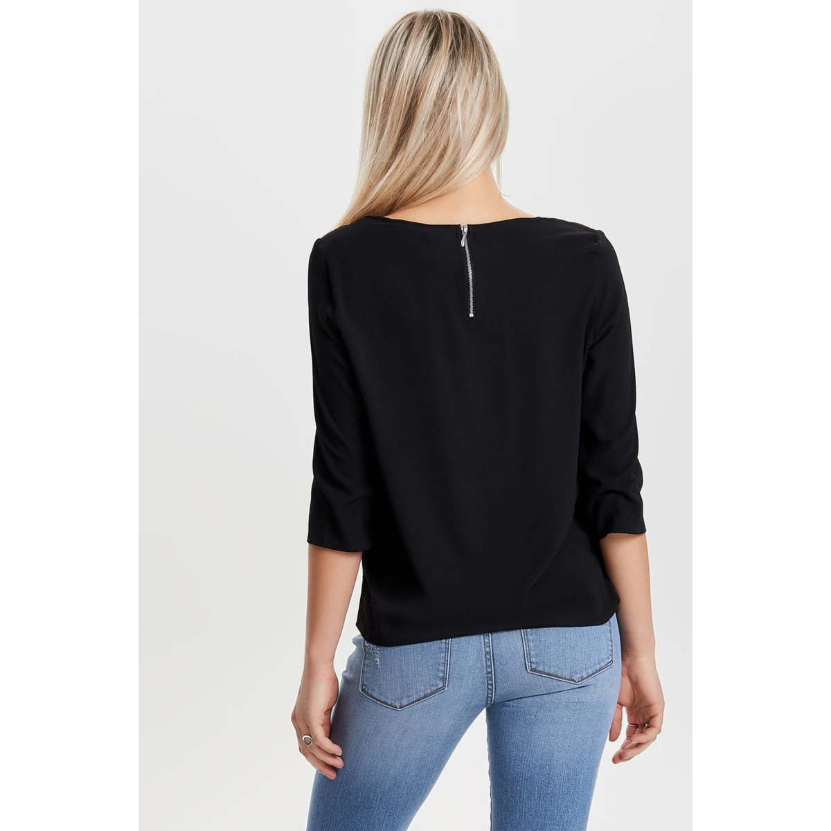 onlvic 3/4 solid top noos wvn 15150195 only t-shirt black