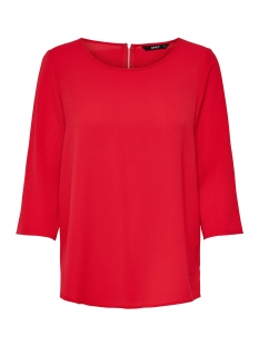 onlvic 3/4 solid top noos wvn 15150195 only t-shirt high risk red