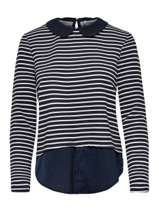 Only Trui onlCARMELLA L/S COLLAR TOP JRS 15146732 Sky captain/ Cloud dancer