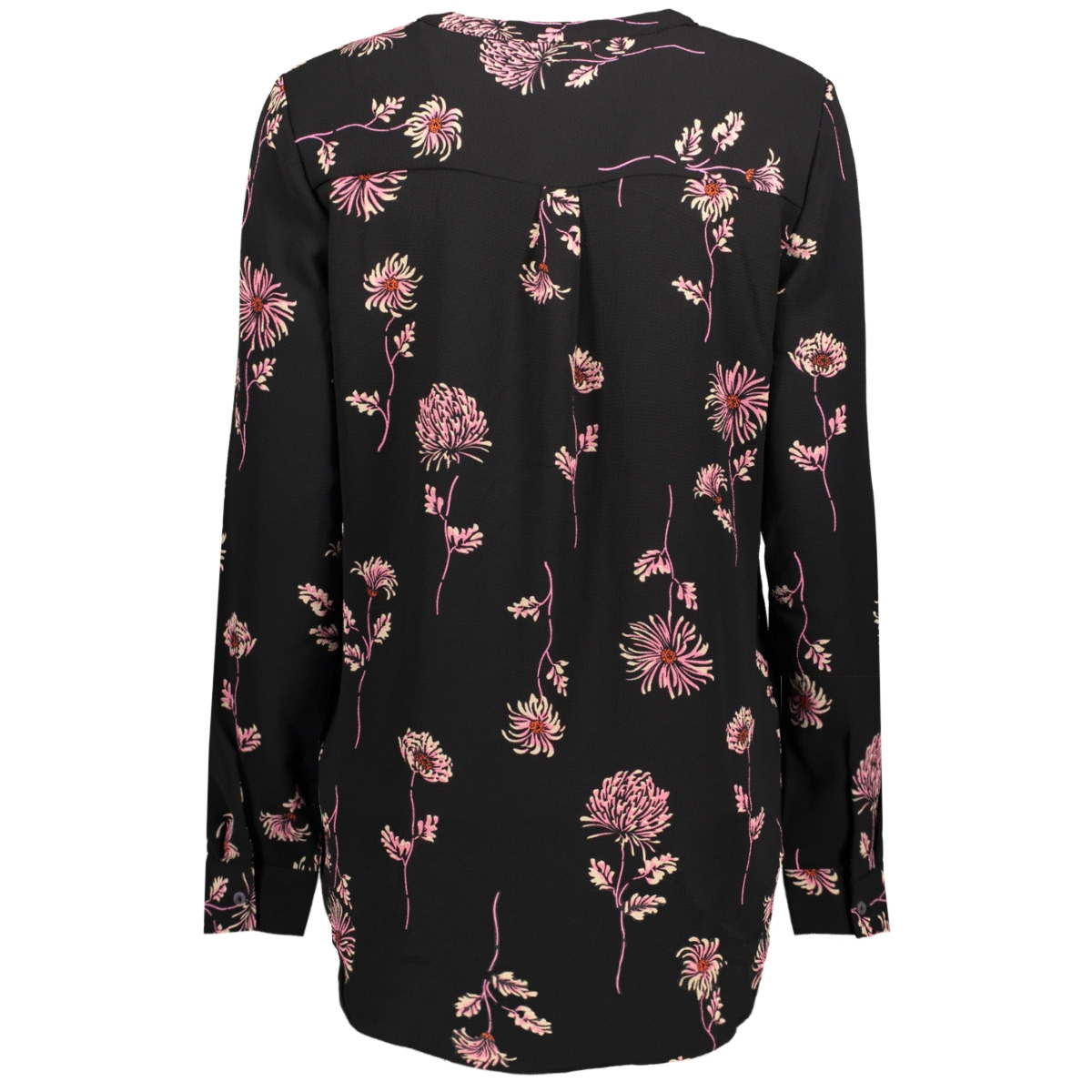jdyrun l/s placket blouse wvn 15143222 jacqueline de yong blouse black/run small