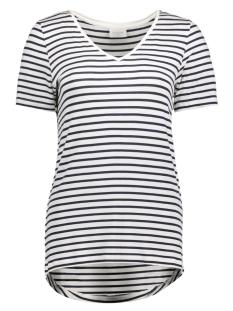 Vila T-shirt VIFI S/S V-NECK T-SHIRT - NOOS 14044571 Total Eclipse/SNOW WHITE