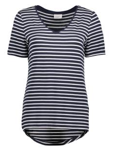 Vila T-shirt VIFI S/S V-NECK T-SHIRT - NOOS 14044571 Snow White/TOTAL ECLI