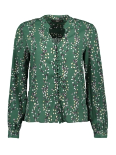 Only Blouse onlDITTE L/S NECK TOP WVN 15153772 Posy Green/fLOWER PRI