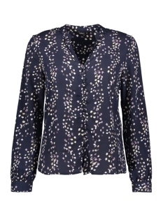 Only Blouse onlDITTE L/S NECK TOP WVN 15153772 Night sky/fLOWER PRI