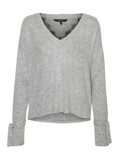 Vero Moda Trui VMGIGI LS SWEAT LTG 10187583 Light Grey Mela/MELANGE