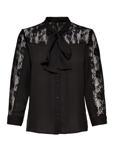 Only Blouse onlSTAR L/S LACE BOW TOP WVN  15144367 Black
