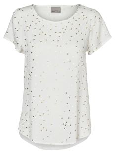 Vero Moda T-shirt VMFOIL SNOW S/S TOP NFS 10190008 Snow White / Foil Gold