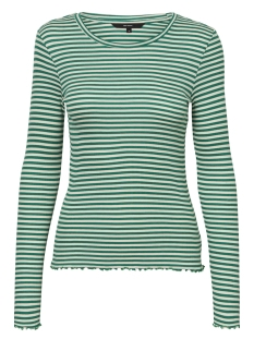 Vero Moda T-shirt VMBECCA LS TOP STRIPED JRS 10191399 Pepper green/WITH PRIST