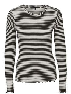 Vero Moda T-shirt VMBECCA LS TOP STRIPED JRS 10191399 Night sky/WITH PRIST