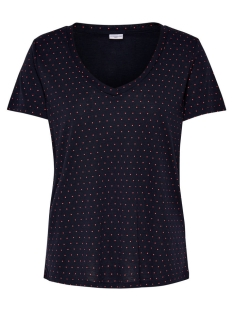 Jacqueline de Yong T-shirt JDYCLOUD S/S AOP V-NECK TOP JRS NOOS 15148943 Sky Captain/High Risk