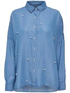 Only Blouse onlDRAGON PEARL LYOCELL SHIRT QYT 15150845 Medium Blue Denim