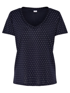 Jacqueline de Yong T-shirt JDYCLOUD S/S AOP V-NECK TOP JRS NOOS 15148943 Sky Captain/Cloud Dancer