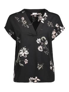 Jacqueline de Yong T-shirt JDYAMELIA S/S TOP WVN 15146300 Black/AMELIA BIG