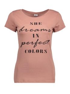 Jacqueline de Yong T-shirt JDYNEW CHICAGO S/S PRINT TOP 12 JRS 15146137 Burlwood/BLACK DREA