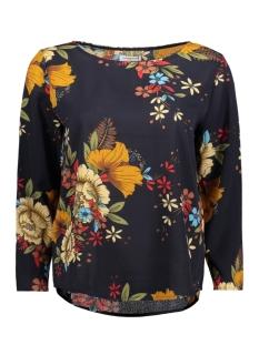 Jacqueline de Yong T-shirt JDYSOFI 7/8 TOP WVN EXP 15158205 Navy Blazer/Flowers