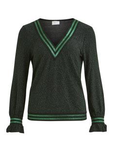 Vila T-shirt VIBAJRO L/S TOP /RX 14048471 Black/GALAPAGOS