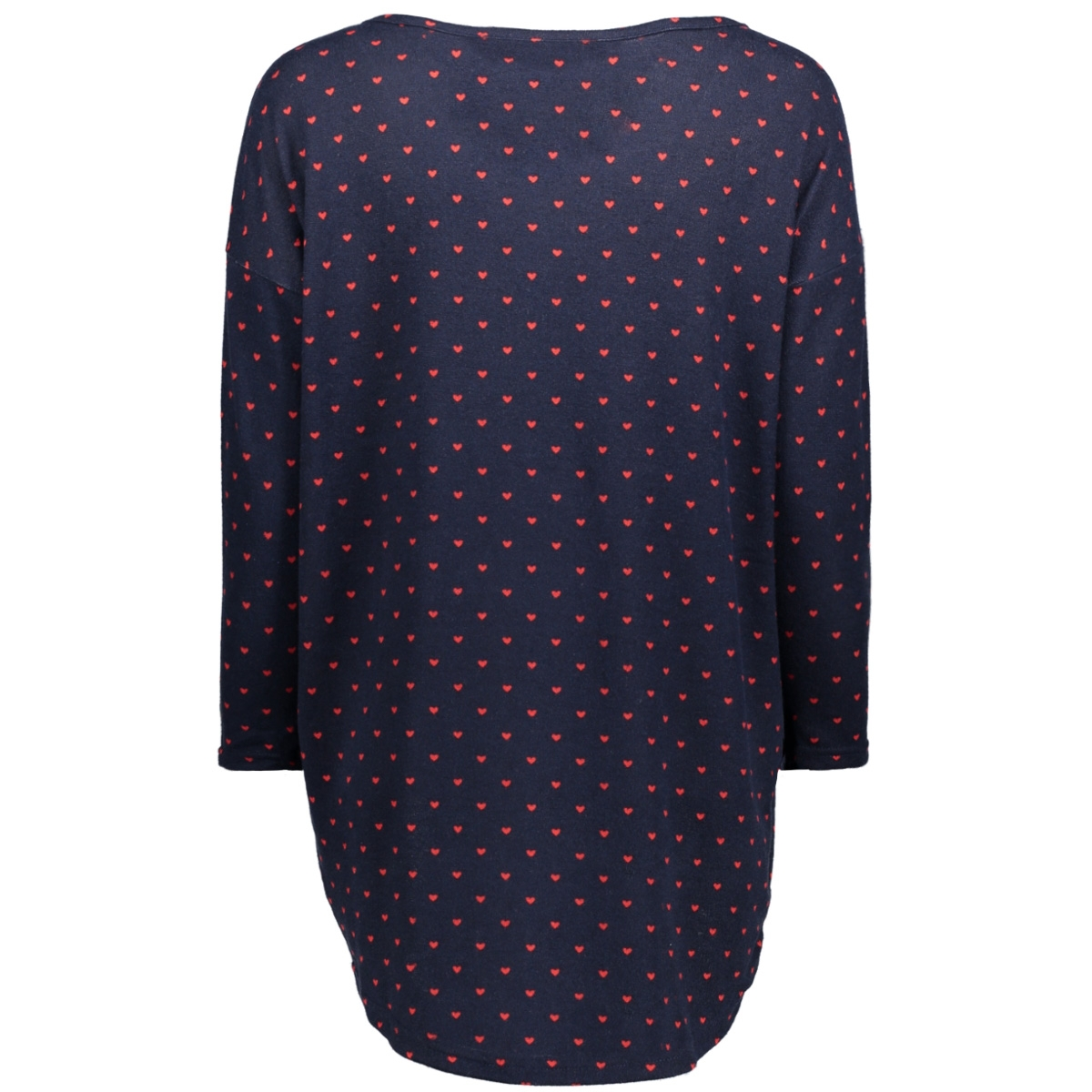 onlelcos 4/5 statement top jrs 15155090 only t-shirt night sky/red hearts