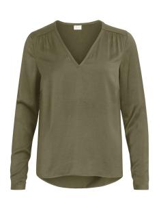 Vila T-shirt VICAVA L/S V-NECK TOP-FAV 14043501 Ivy Green