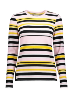 Noisy may Trui NMLINA L/S SIDE SLIT TOP 1 27001066 Barely Pink / Bright White