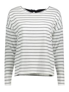 Only T-shirt onlPHEOBE L/S BOW TOP JRS 15150969 Cloud Dancer/NIGHT SKY