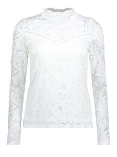 Vila T-shirt VISTASIA L/S LACE TOP-FAV 14044847 Cloud Dancer
