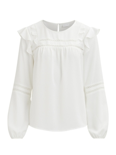 Vila T-shirt VILADDY L/S TOP 14045334 Cloud Dancer