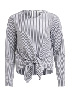 Vila Blouse VIJUSTY L/S TOP 14045110 Cloud Dancer/GREY STRIP