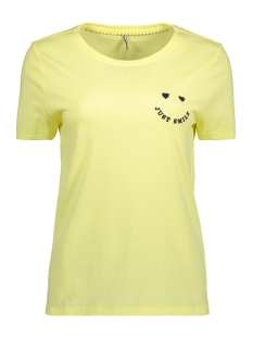 Only T-shirt onlKITA S/S PRINT TOP BOX JRS 15150915 Yellow Pear/SMILE1