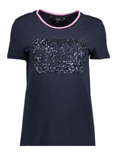 Vero Moda T-shirt VMNEW REBEL S/S T-SHIRT D2-1 10192224 Night Sky