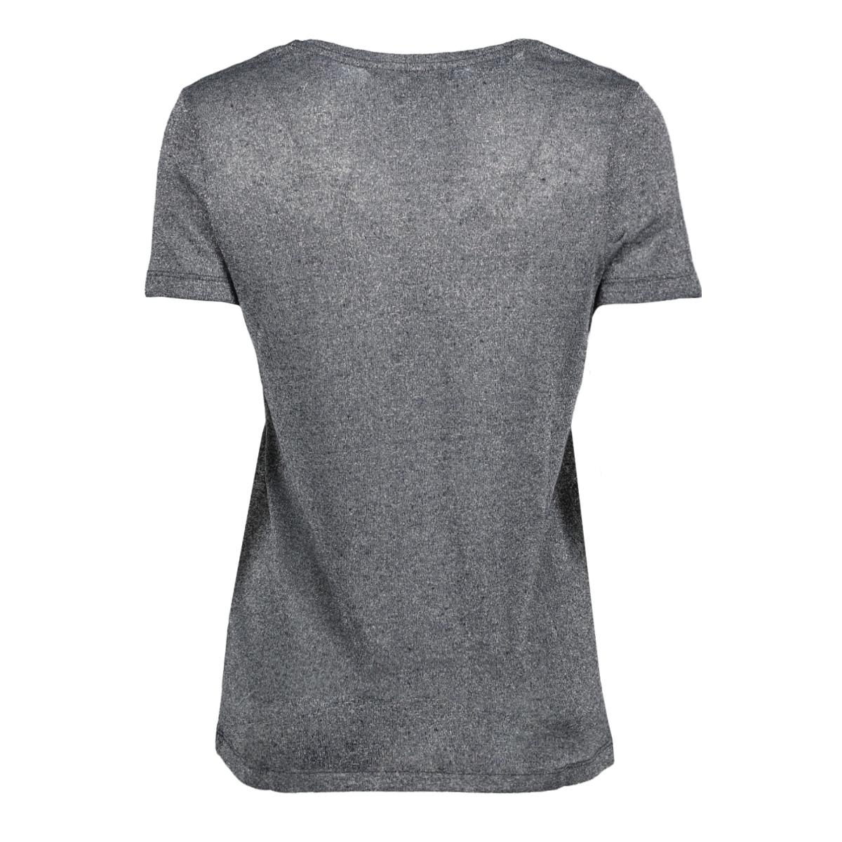 vmreza pure ss lurex linen top 10193194 vero moda t-shirt night sky/silver lur