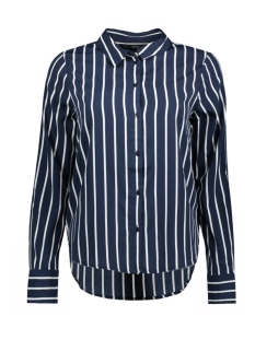 Vero Moda Blouse VMNICKY L/S SHIRT D2-1 10193878 Snow white/wide stripe