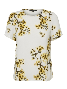 Vero Moda T-shirt VMOCCASION MIA S/S TOP D2-5 LCS 10197504 Snow White/Yellow