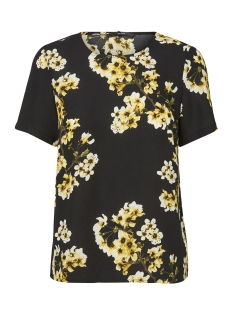 Vero Moda T-shirt VMOCCASION MIA S/S TOP D2-5 LCS 10197504 BLack/Yellow
