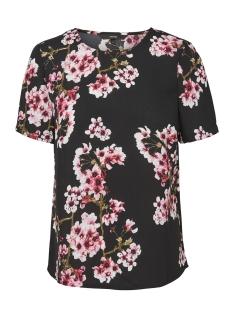 Vero Moda T-shirt VMOCCASION MIA S/S TOP D2-5 LCS 10197504 Black/Pink Print
