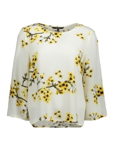Vero Moda T-shirt VMOCCASION WIDE 3/4 SLEEVE TOP D2-5 10183877 Snow White/Flower Har