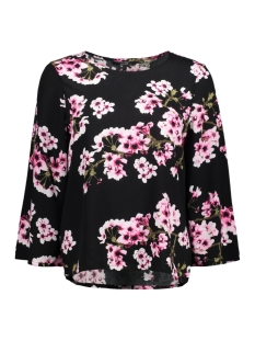 Vero Moda T-shirt VMOCCASION WIDE 3/4 SLEEVE TOP D2-5  10183877 Black/Flower