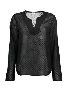 Jacqueline de Yong T-shirt JDYANABETH L/S BLOUSE WVN RD 15146335 Black