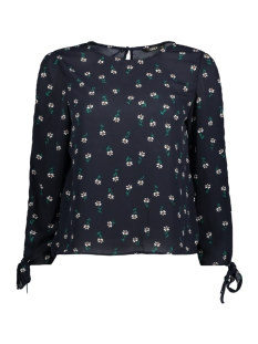 Only T-shirt onlFLORI 7/8 TIE TOP WVN 15150882 Night Sky/DITSY FLOR