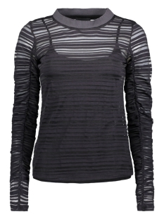 Object T-shirt OBJAVELINE L/S TOP 96 23026265 Black/Striped