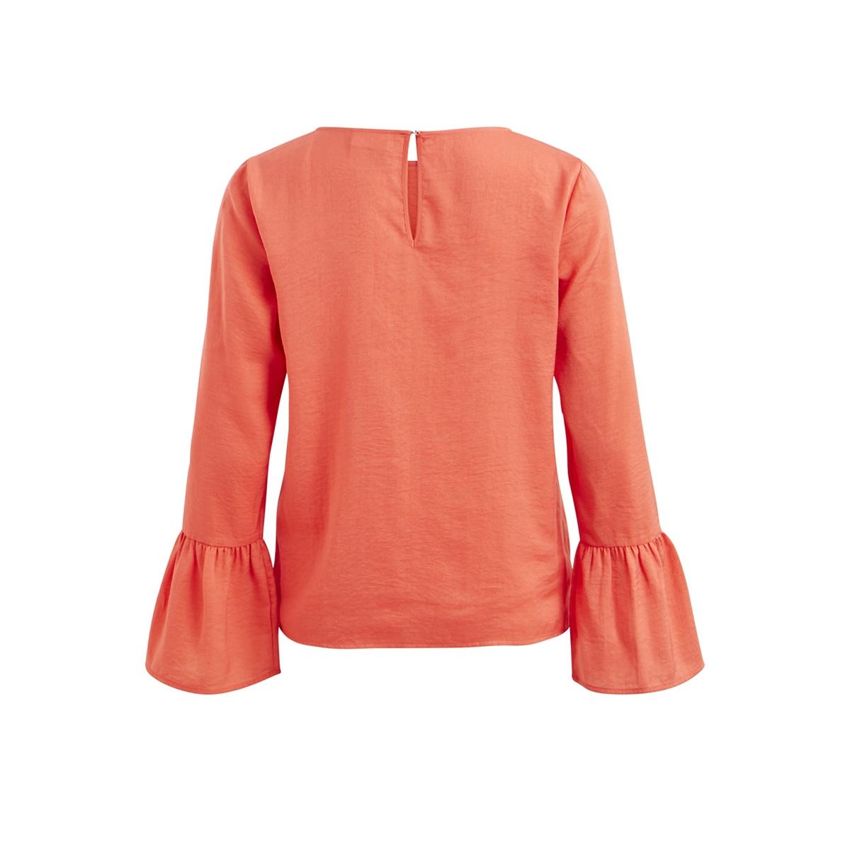 virassi l/s top/pb 14044420 vila blouse spiced coral