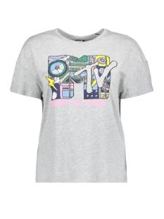 Only T-shirt onlMTV S/S TOP BOX JRS 15152873 Light Grey Melange