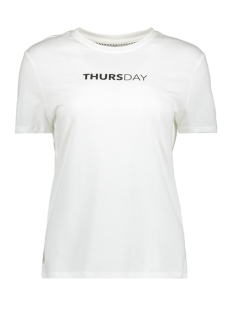 Only T-shirt onlWEEKDAY S/S TOP BOX JRS 15150900 Bright White/THURSDAY1