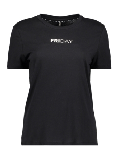 Only T-shirt onlWEEKDAY S/S TOP BOX JRS 15150900 Black/FRIDAY1